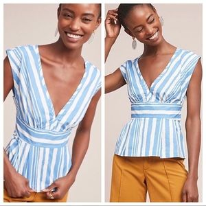 🆕NWT Anthropologie x Tracy Reese striped top